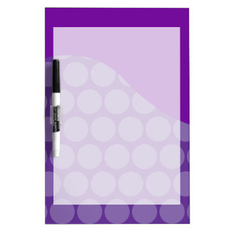 Pretty Purple Big Polka Dots Wave Pattern Gifts Dry Erase Board
