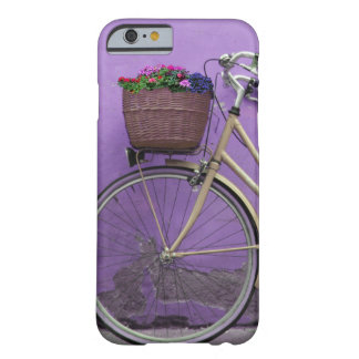 Pretty Purple Bike Flower Basket Barely There iPhone 6 Case