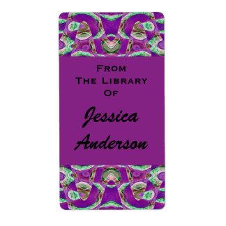 pretty purple bookplates