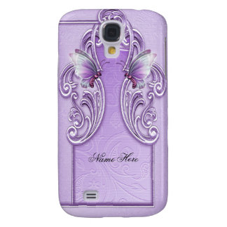 Pretty Purple Butterfly Lavender Lilac Galaxy S4 Case