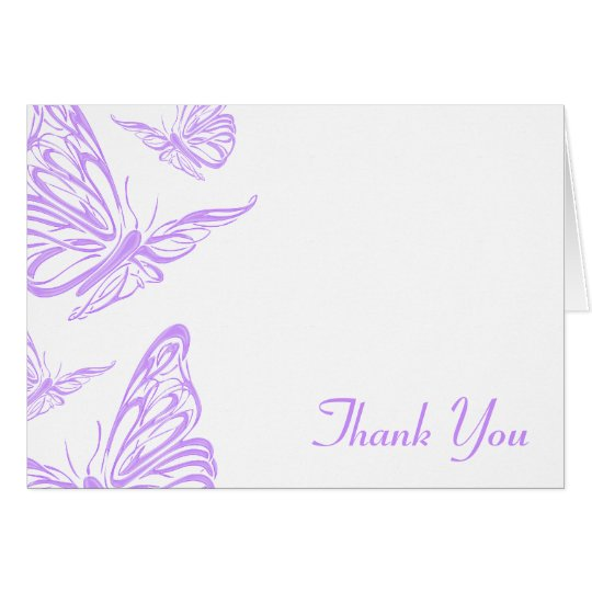 Pretty Purple Butterfly Thank You Card