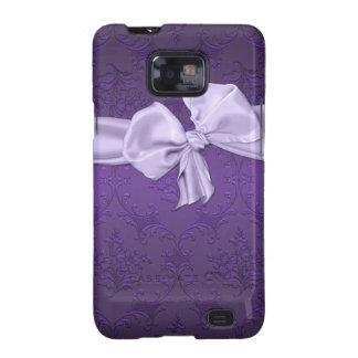 Pretty Purple Damask Samsung Galaxy Phone Case Samsung Galaxy S2 Case