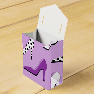 Pretty Purple deluxe  High Heels Favour Box