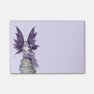 Pretty Purple Fairy and Butterfly Post-it Notes