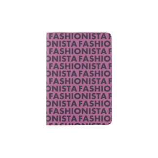 Pretty Purple Fashionista Text Cutout Passport Holder