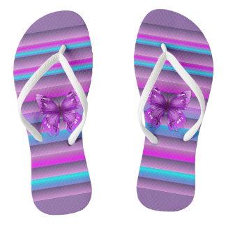 Pretty Purple Flip Flops