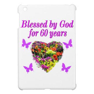 PRETTY PURPLE FLORAL 60TH BIRTHDAY DESIGN COVER FOR THE iPad MINI