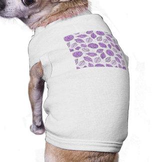 Pretty Purple Floral Pattern Sleeveless Dog Shirt