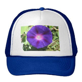 Pretty Purple Flower Cap
