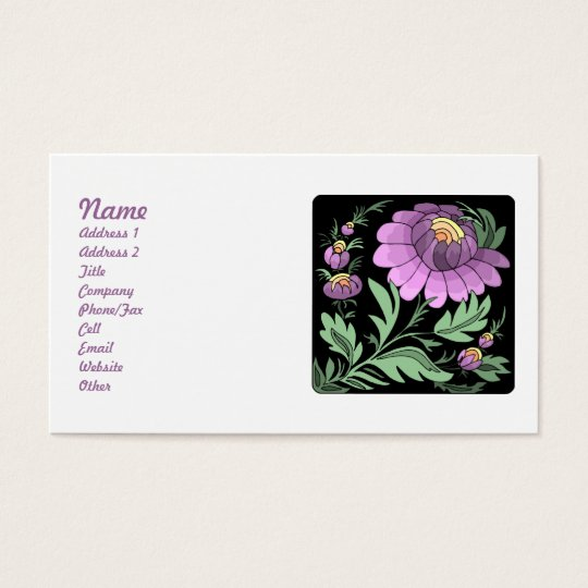 Pretty Purple Flowers Business Cards