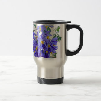 Pretty Purple Flowers Stainless Steel Travel Mug