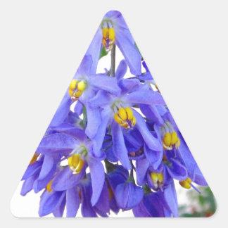 Pretty Purple Flowers Triangle Sticker