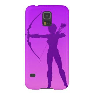Pretty Purple Girl Archer Galaxy S5 Covers