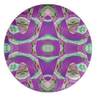 pretty purple green abstract dinner plates