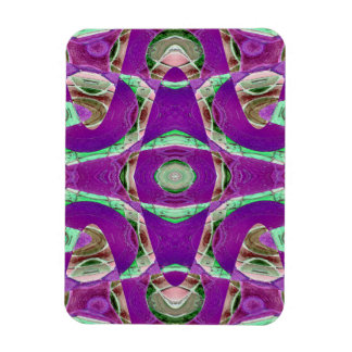 pretty purple green abstract rectangular photo magnet