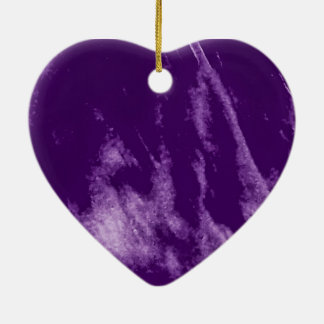 PRETTY PURPLE HEART ORN CHRISTMAS ORNAMENT