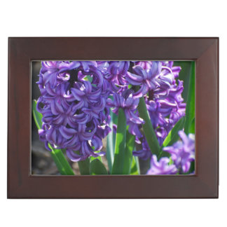 Pretty Purple Hyacinth Keepsake Box