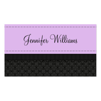 Pretty Purple Label Ribbon Business Cards