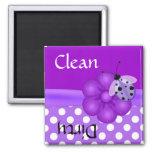 Pretty Purple Ladybug Dishwasher Magnet