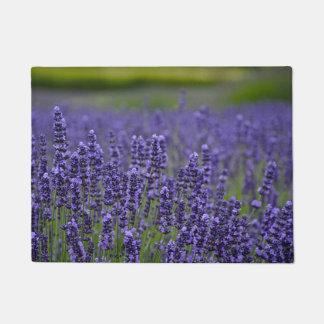 Pretty purple lavendar flowers doormat