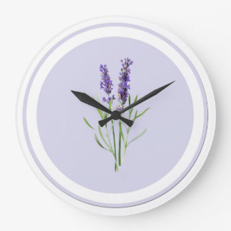 Pretty Purple Lavender Flowers Wallclocks