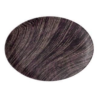 Pretty Purple Marble Design Porcelain Serving Platter