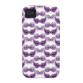 Pretty Purple Masquerade Ball Masks Mardi Gras Case For The iPhone 4