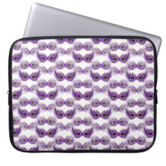 Pretty Purple Masquerade Ball Masks Mardi Gras Laptop Computer Sleeves