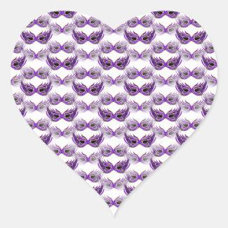 Pretty Purple Masquerade Ball Masks Mardi Gras Sticker