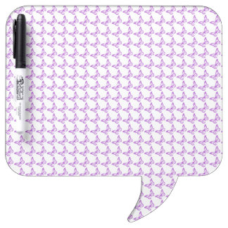 Pretty Purple Pain Awareness Butterflies Dry Erase Board