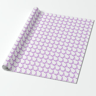 Pretty Purple Pain Awareness Butterflies Wrapping Paper