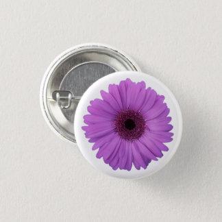 Pretty Purple Photographic Gerbera Daisy Flower 3 Cm Round Badge