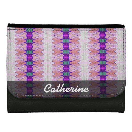 pretty purple pink fancy pattern wallet