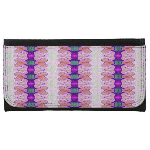 pretty purple pink fancy pattern women's wallets