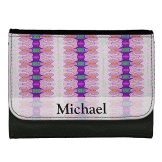 pretty purple pink fancy pattern women's wallet