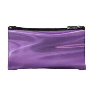 Pretty Purple pink swirl pattern on make up bag