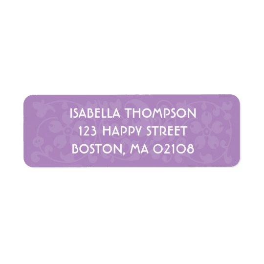 Pretty Purple Return Address Label