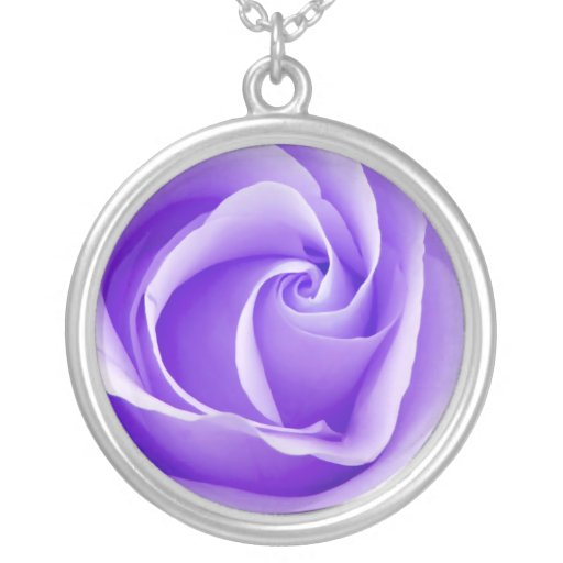 Pretty Purple Rose Necklace