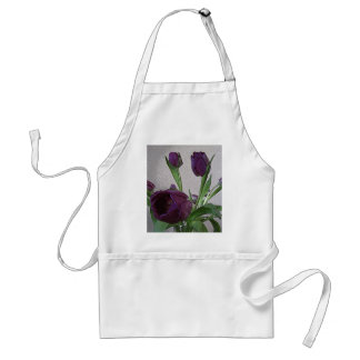 Pretty Purple Tulips Standard Apron