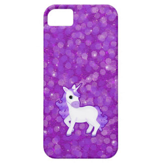 Pretty Purple Unicorn and Glitter iPhone 5 Case