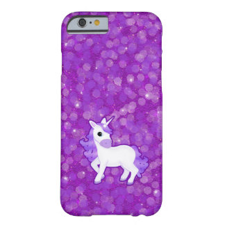 Pretty Purple Unicorn and Glitter iPhone 6 case