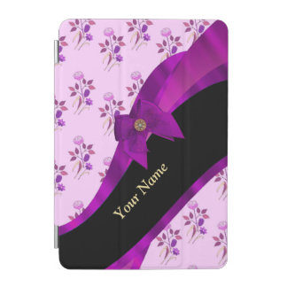 Pretty purple vintage floral pattern iPad mini cover