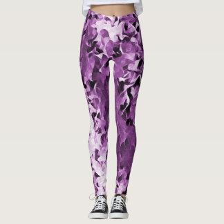 Pretty Purple Violets Leggings