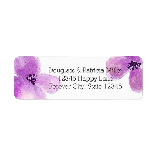 Pretty Purple Watercolor Floral