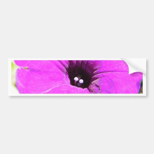 Pretty Purple Wildflower Bumper Sticker
