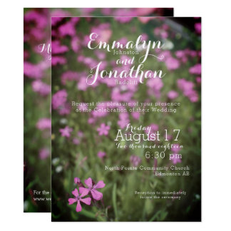 Pretty Purple Wildflower Invite