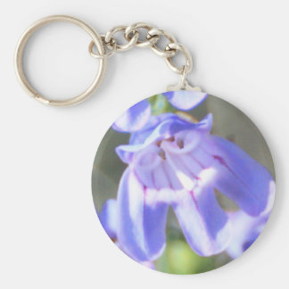 Pretty Purple Wildflowers Basic Round Button Key Ring