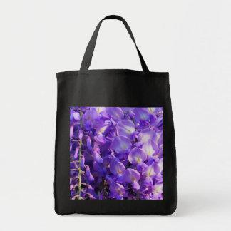 Pretty purple Wisteria flowers Grocery Tote Bag