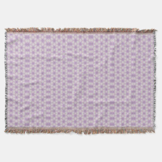 Pretty Purples Geometric Fractal Throw Blanket
