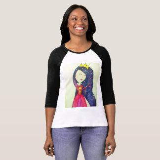 Pretty queen with hair galaxy T-Shirt